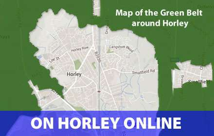 Map of the Green Belt around Horley
