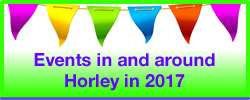 Events around Horley in Surrey in 2017