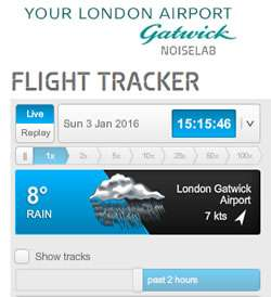 Gatwick Flight Tracker and Noise Checker