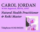 Carol Jordan natural health practitioner based in Horley