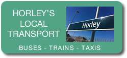 Local Transport in the Horley area.