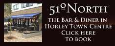 51 Degrees North, Bar and Diner in Horley Town Centre