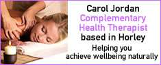Carol Jordan, Natural Health Practitioner Horley