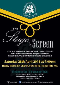 From Stage to Screen concert, Horley, Surrey