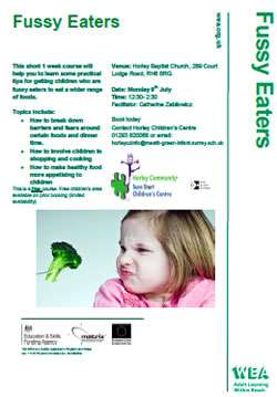 Fussy Eaters Course, Horley, Surrey