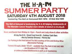 The H-A-M Summer Party, hosted by the Bell at Outwood