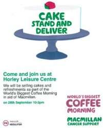 Macmillan Coffee Morning Horley Online
