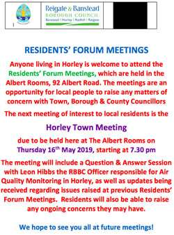 Horley Town Meeting May 2019