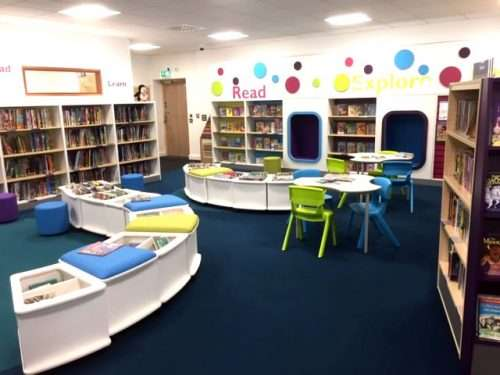 The Children's area at Horley Library.