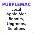 Purple Mac. Apple Mac repairs, upgrades, solutions, Horley, Surrey