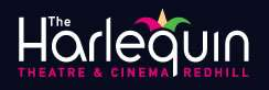 Harlequin Theatre and Cinema Redhill, logo.
