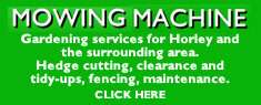 Mowing Machine gardening services Horley Surrey