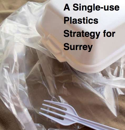 Front page of A Single-Use Plastics Strategy for Surrey