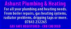 Ashurst Plumbing and Heating, Horley, Surrey